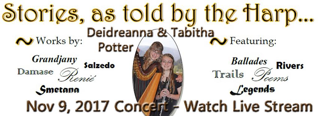 Grace Baptist Church, Eaton Rapids, MI, Harp Concert, Recital, Deidreanna Potter, Tabitha Potter, Harp Recital 2017