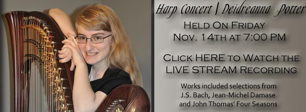 Deidreanna Potter, Harp Recital 2014