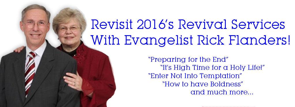 Grace Baptist Church, Eaton Rapids, MI, Summer 2016, Revival Meetings, Rick Flanders