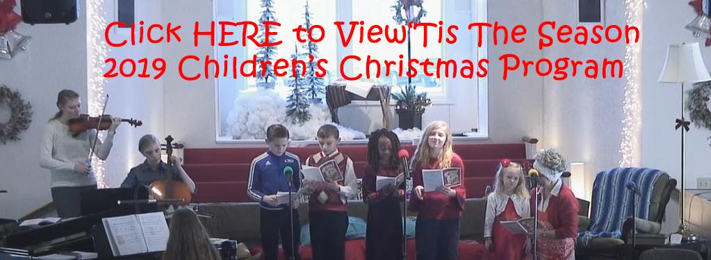 Grace Baptist Church, Eaton Rapids, MI, 2019, Childrens Christmas Contata, KJV